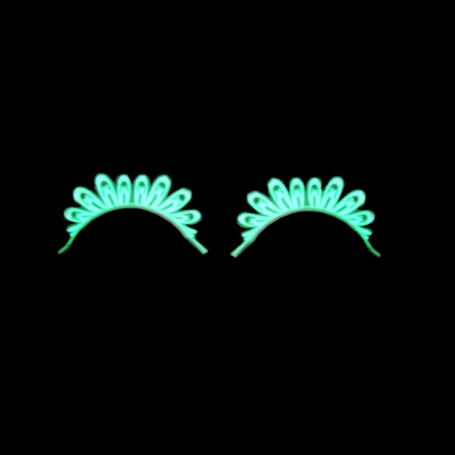 MYLASHES Plakwimpers - Paars met zwarte veren