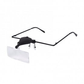 Head magnifying glasses with LED light