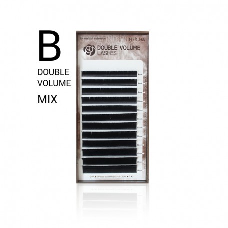 Neicha DOUBLE VOLUME Lashes B-krul MIX