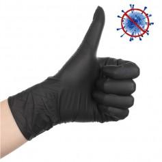 Gloves Nitril Black (20 pieces)