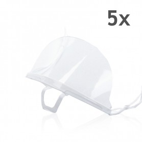 Transparent mouth mask (White) - 5 pieces