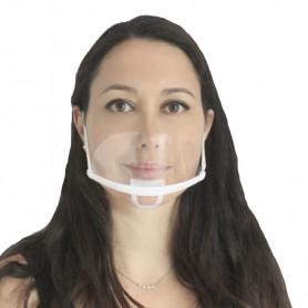 Máscara higiênica transparente