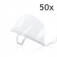 Transparant mondkapje (Wit) - 50 stuks