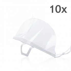 Transparent mouth mask (White) - 10 pieces