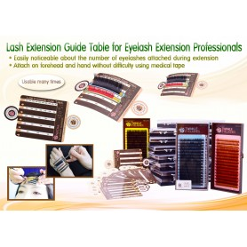Neicha Wimperextensions Guide Tabel (5 stuks)